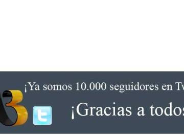 Ya somos 10.000 seguidores en Twitter