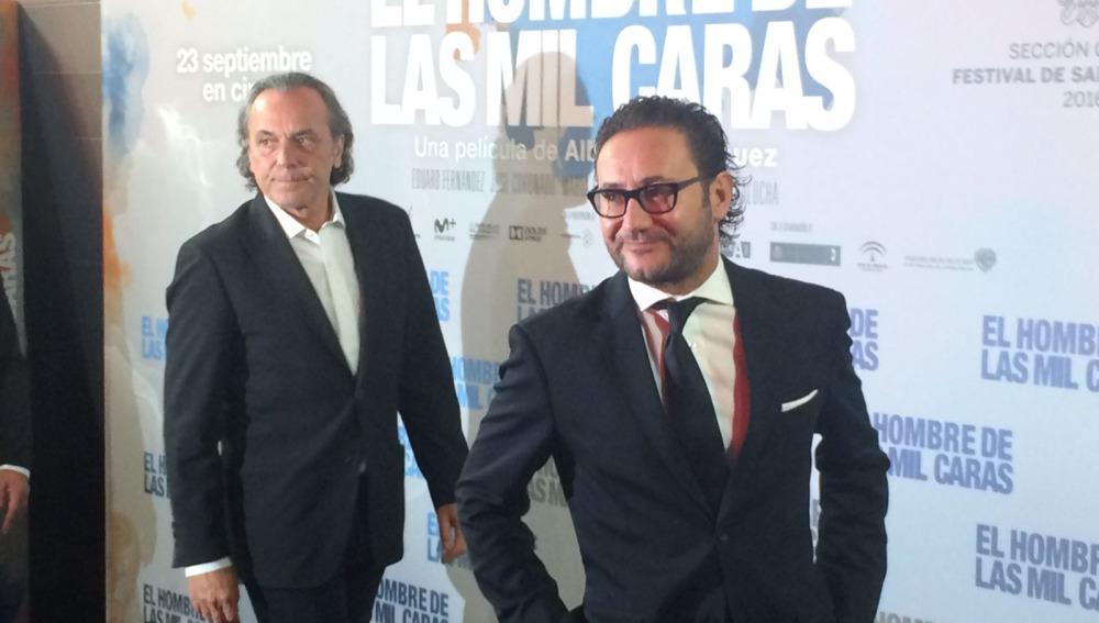Jose Coronado y Carlos Santos fueron los primeros en llegar al photocall