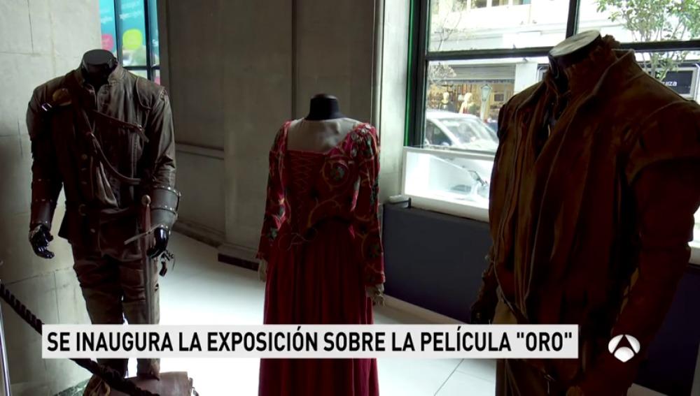 Ya está inaugurada la exposición del vestuario y atrezzo de 'Oro', la nueva película de Agustín Díaz Yanes, basada en un relato inédito de Arturo Pérez-Reverte